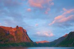 Sunset in Lofoten Royalty Free Stock Photos