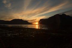 Sunset in Lofoten Stock Image