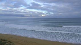 Sunset at Logan`s Beach Warrnambool. Australia stock video footage