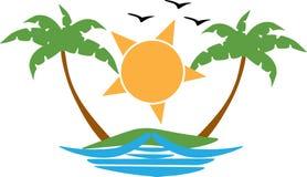Sunset logo Royalty Free Stock Photos