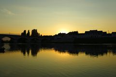 Sunset in Loire Valley, France Stock Photography