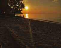 Sunset at Lombok island