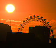 Sunset in london Royalty Free Stock Photos