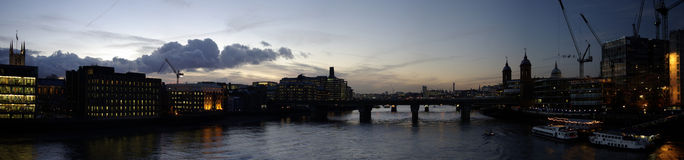 Sunset from the london bridge Royalty Free Stock Photography
