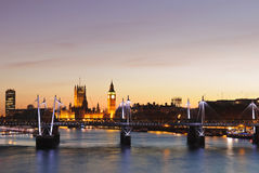 Sunset in London Royalty Free Stock Photography