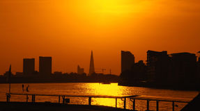 Sunset in London during summer time Stock Image