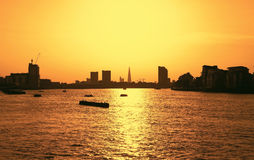 Sunset in London during summer time Stock Images