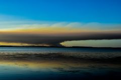 Fire in the distance royalty free stock images
