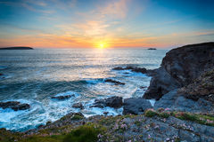 Sunset at Longcarrow Cove Royalty Free Stock Photos