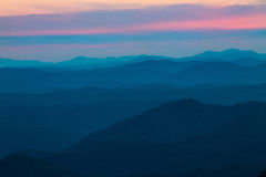 Sunset at Look Rock Smoky Mountains National Park Tennessee Stock Photos