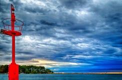 Sunset on lookout Stock Photo