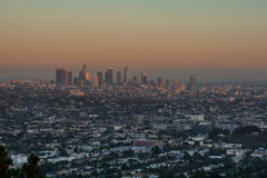 Sunset Los Angeles. Sunset from the Griffith Observatory, Los Angeles, CA Stock Photo