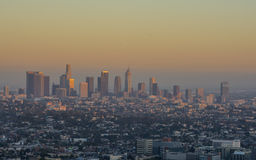 Sunset Los Angeles. Sunset from the Griffith Observatory, Los Angeles, CA Stock Images