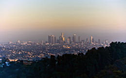 Sunset in Los Angeles Stock Photos