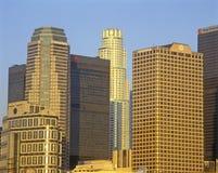 Sunset on Los Angeles skyline, Los Angeles, California Royalty Free Stock Image