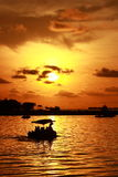 Sunset Losari Royalty Free Stock Photography