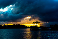 Sunset at Lough Leane in Killarney National Park in Ireland Stock Photography