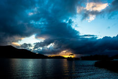 Sunset at Lough Leane in Killarney National Park in Ireland Stock Photo