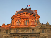 Sunset in the Louvre Museum Royalty Free Stock Image