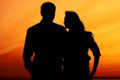 Sunset love Royalty Free Stock Photo
