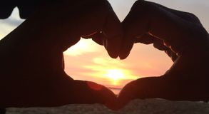 Sunset love royalty free stock photos