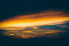 Sunset. Love, sky, penetrate into the photo Royalty Free Stock Photo