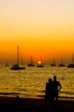 Sunset with lover. Stock Image