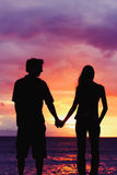 Sunset Lovers Stock Photo