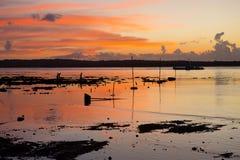Sunset at low tide, Nusa Penida, Indonesia Royalty Free Stock Photos