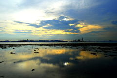 Sunset at Low Tide Royalty Free Stock Photography