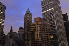 Sunset on Lower Manhattan following Power Outage. Stock Photos