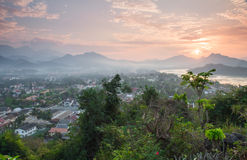 Sunset Luang prabang Stock Images
