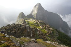 Sunset of Machu Picchu Stock Photos