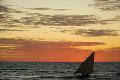 Sunset in madagascar Royalty Free Stock Photo