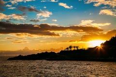 Sunset on Madeira Royalty Free Stock Image