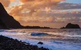 Sunset on Madeira Stock Photography