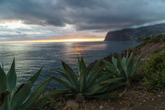 Sunset in Madeira Royalty Free Stock Photo