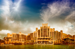 Sunset in Madinat Jumeirah - Dubai Royalty Free Stock Photos