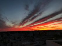 Sunset& x27; magia di s immagini stock