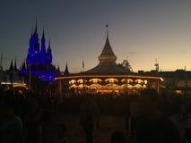 Sunset on the Magic Kingdom. Night falls on the Magic Kingdom, Orlando, Florida Stock Photos