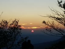 Sunset. At Makdook cliff in Phukadueng National Park Stock Image