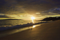 Sunset at makena Royalty Free Stock Image
