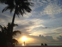 Sunset from a island in the Indian Ocean Royalty Free Stock Photos