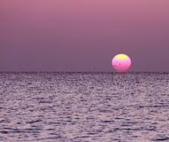 Sunset in the Maldives Stock Image