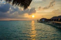 Sunset at Maldives Royalty Free Stock Photos