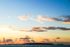 Sunset in the Maldives, Vacation. The Maldives in October, indian ocean, Ari Atoll Stock Image