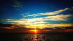Sunset in Maldives stock photos