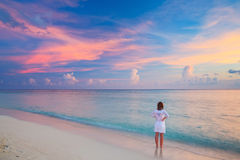 Sunset on Maldives Royalty Free Stock Image