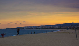 Sunset. A sunset in Malgrat de Mar Stock Images