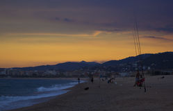 Sunset. A sunset in Malgrat de Mar Royalty Free Stock Images